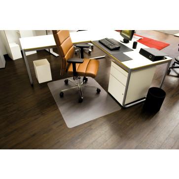Protectie podea pentru suprafete dure, forma O, 75 x 120cm, RS OFFICE EcoBlue