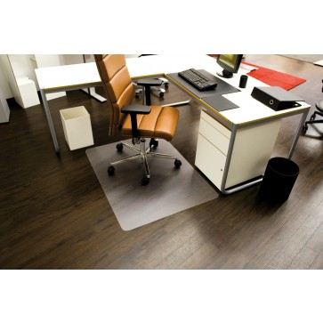 Protectie podea pentru suprafete dure, forma O, 90 x 120cm, RS OFFICE EcoBlue