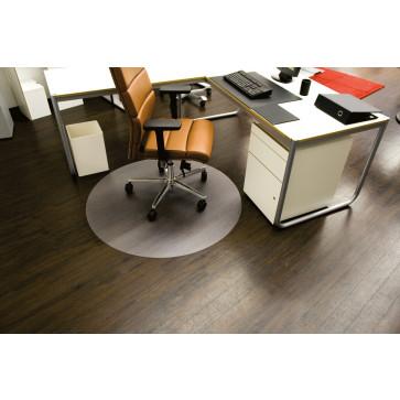 Protectie podea pentru suprafete dure, forma R, diametru 90cm, RS OFFICE EcoBlue