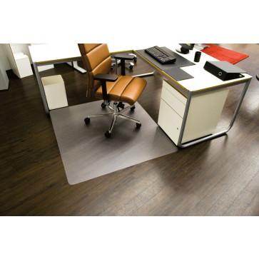 Protectie podea pentru suprafete dure, forma O, 130 x 120cm, RS OFFICE EcoBlue