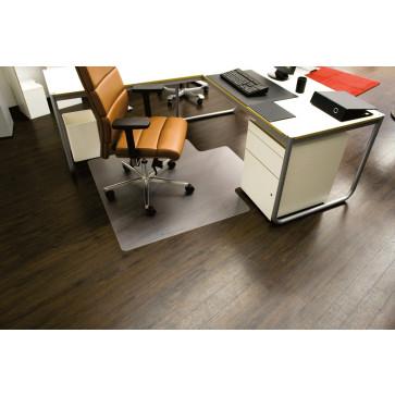 Protectie podea pentru suprafete durei, forma U, 130 x 120cm, RS OFFICE EcoBlue