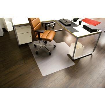 Protectie podea pentru suprafete dure, forma L, 150 x 120cm, RS OFFICE EcoBlue