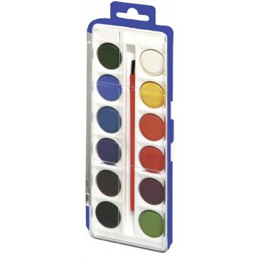 Acuarele mini, 12 culori, HERLITZ
