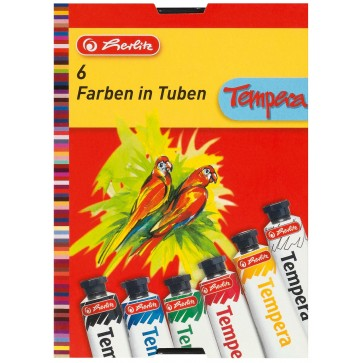 Tempera, 6 culori/set, HERLITZ