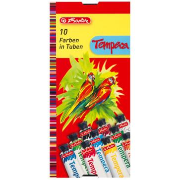 Tempera, 10 culori/set, HERLITZ