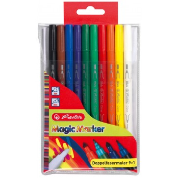 Carioca dubla, 10 buc/set, HERLITZ Magic