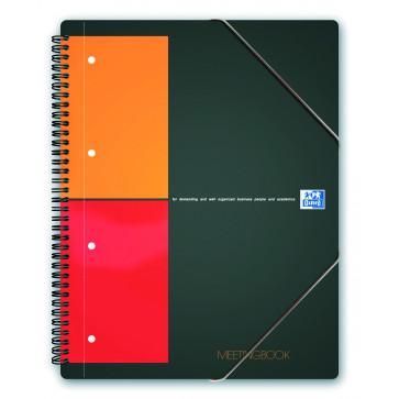 Caiet pentru birou cu spira, A4+, 80 file, matematica, OXFORD MeetingBook