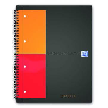 Caiet pentru birou cu spira, A4+, 100 file, matematica, OXFORD FilingBook