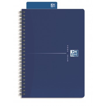 Caiet pentru birou cu spira, A5, 90 file, dictando, OXFORD Original Blue