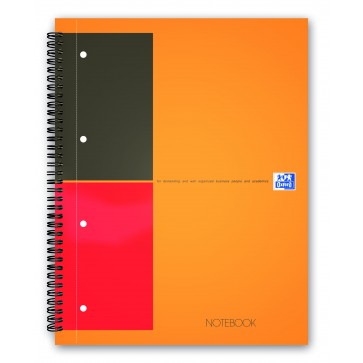 Caiet pentru birou cu spira, A4+, 80 file, dictando, OXFORD Twin-Wire