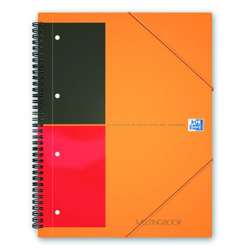 Caiet pentru birou cu spira, A4+, 80 file, dictando, OXFORD MeetingBook