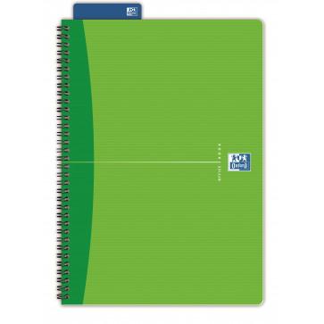 Caiet pentru birou cu spira, diverse culori, A4, 90 file, matematica, OXFORD Essentials