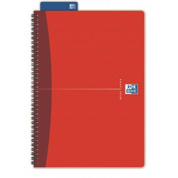 Caiet pentru birou cu spira, diverse culori, A4+, 90 file, matematica, OXFORD Essentials