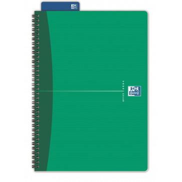 Caiet pentru birou cu spira, diverse culori, A5, 90 file, dictando, OXFORD Essentials