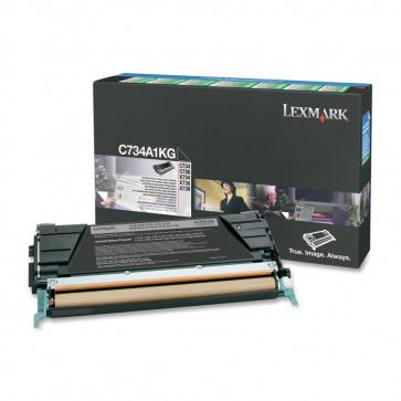 Toner, black, LEXMARK C734A1KG