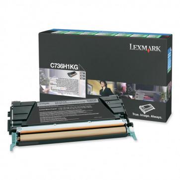 Toner, black, LEXMARK C736H1KG