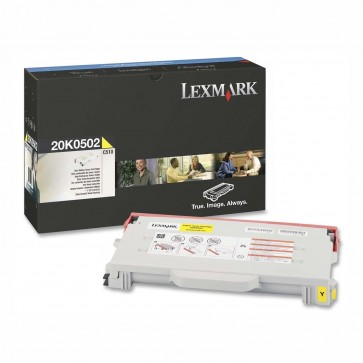 Toner, yellow, LEXMARK 20K0502