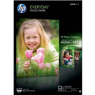 Hartie foto HP Everyday Inkjet A4, 200 g/mp, 100 coli/top, semi-lucios