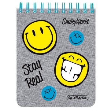 Bloc notes 8x10cm, matematica, cu spira, 70 file, HERLITZ Smiley World Fancy