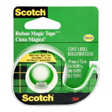 Banda adeziva cu dispenser, 19mm x 7.5m, SCOTCH Magic 105