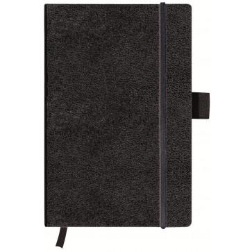 Bloc notes A6, dictando, coperta din piele sintetica cu elastic, 96 file, negru, HERLITZ My Book Classic