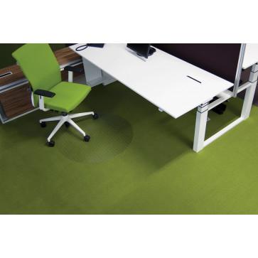 Protectie podea pentru covoare, forma R, diametru 60cm, RS OFFICE EcoGrip