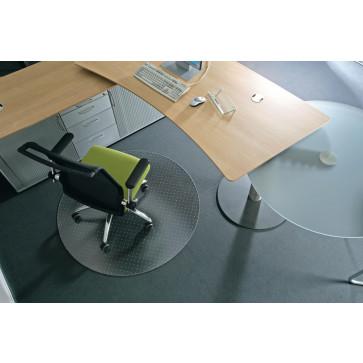 Protectie podea pentru covoare, forma R, diametru 120cm, RS OFFICE EcoGrip