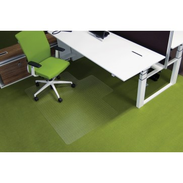Protectie podea pentru covoare, forma L, 150 x 120cm, RS OFFICE EcoGrip