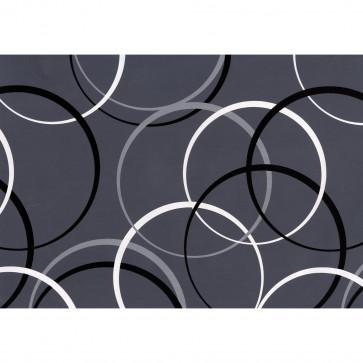 Hartie pt. ambalare, 70 x 200cm/rola, 70gr/mp, model cu cercuri, HERLITZ