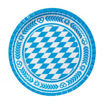 Farfurie din carton, color, diam. 23cm, 10 buc/set, HERLITZ Bavaria