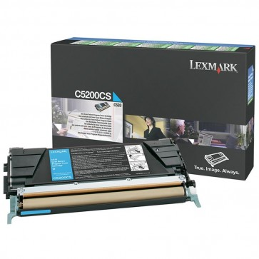 Toner, cyan, LEXMARK C5200CS