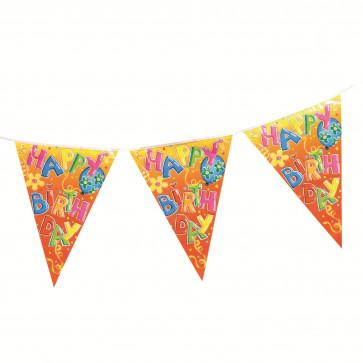 Ghirlanda party fanioane, 400cm, HERLITZ Happy Birthday