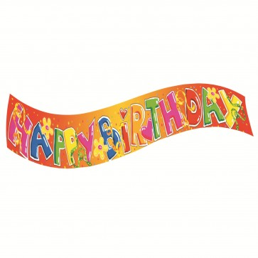 Banner party, 90cm, HERLITZ Happy Birthday