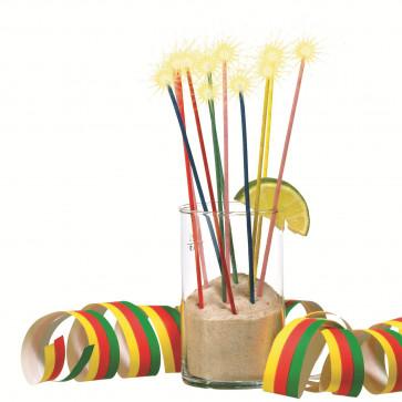Lumanare aniversara, diverse culori, tip artificii, 24 buc/set, HERLITZ