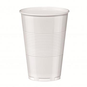 Pahar din plastic, alb, 200ml, 50 buc/set, HERLITZ