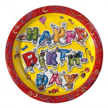 Farfurie din carton, color, diam. 23cm, 8 buc/set, HERLITZ Celebration
