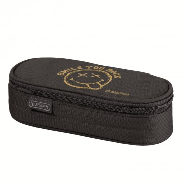 Necessaire, oval, HERLITZ Smiley Golden Pop