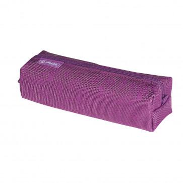 Necessaire patrat, 1 compartiment, HERLITZ Floral Purple