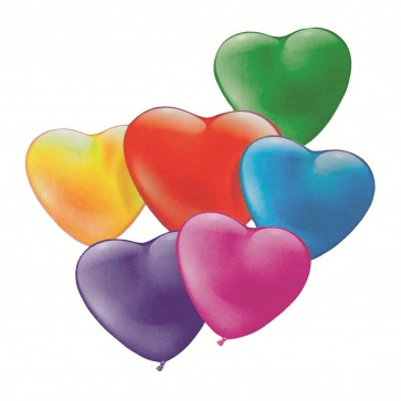 Baloane, inima mica, diverse culori, 20 buc/set, HERLITZ