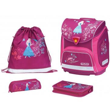 Ghiozdan ergonomic echipat, HERLITZ Sporti Plus Flower Princess