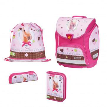 Ghiozdan ergonomic echipat, HERLITZ Sporti Plus Pretty Pets cal
