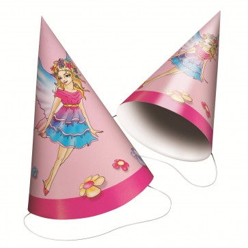 Coif din carton pentru party, model fete, 6 buc/set, HERLITZ Fairy Dreams