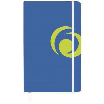 Bloc notes A5 matematica, coperta carton cu elastic, 88 file, albastru intens, HERLITZ