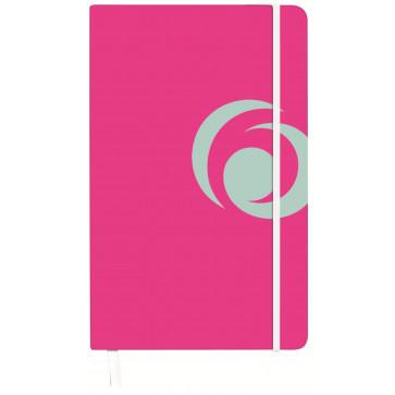 Bloc notes A5, matematica, coperta carton cu elastic, 88 file, roz electrizant, HERLITZ