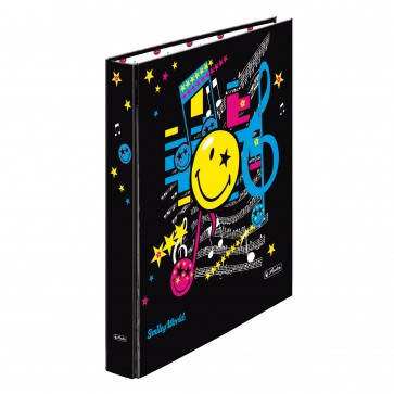 Caiet mecanic, A4, 2 inele, 25mm, HERLITZ Smiley World Pop