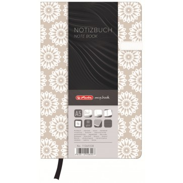 Bloc notes A5 dictando, coperta tare lucioasa cu magnet, 96 file, HERLITZ My Book Classic Pure