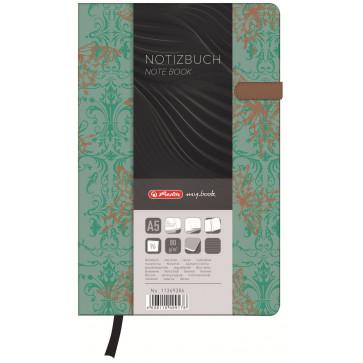 Bloc notes A5 dictando, coperta tare lucioasa cu magnet, 96 file, HERLITZ My Book Classic Butterly
