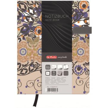 Bloc notes A6, dictando, coperta tare lucioasa cu magnet, 96 file, HERLITZ My Book Classic Romantic