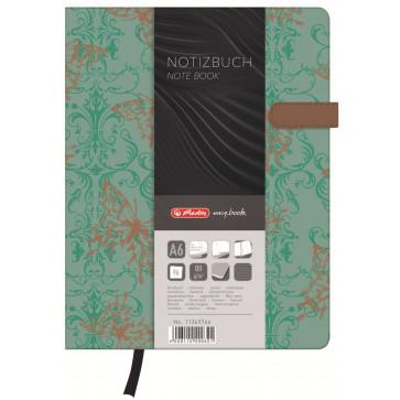 Bloc notes A6, dictando, coperta tare lucioasa cu magnet, 96 file, HERLITZ My Book Classic Butterly