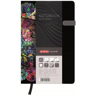Bloc notes A5 dictando, coperta tare lucioasa cu magnet, 96 file, HERLITZ My Book Classic Fiona